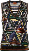 Missoni zig-zag metallic knitted tank - women - Nylon/Polyester/Spandex/Elastane/Viscose - 46