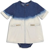 7 For All Mankind Girls' Bleached Denim Dress & Bloomers Set