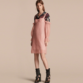 Burberry Embroidered Tulle Off-shoulder Corset Dress