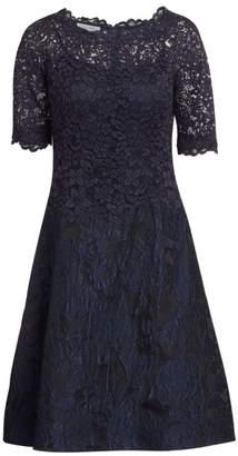 Teri Jon By Rickie Freeman Lace A-Line Dress