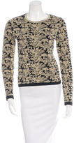 Rochas Metallic Jacquard Sweater