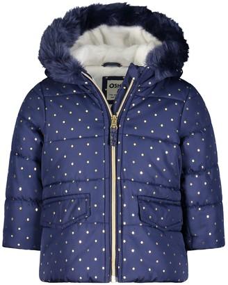 Osh Kosh Baby Girl OshKosh Bgosh Navy Foil Dot Parka Jacket