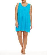 Miss Elaine Plus Silk Essence Sleeveless Short Gown