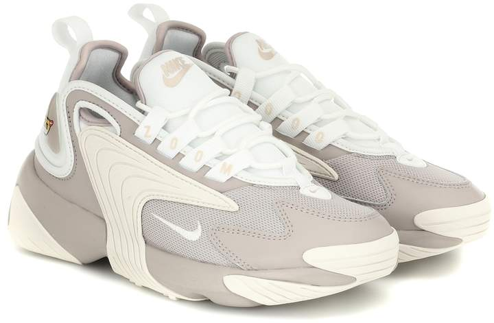 Nike Zoom 2K leather-trimmed sneakers