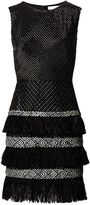 Matthew Williamson Black Beaded Feather Dress