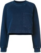 AG Jeans cropped denim effect sweater