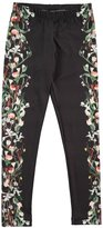 Molo Nikia Digi Flower Stripe Leggings, Black, Size 3-14