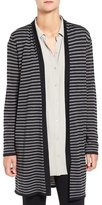 Eileen Fisher Ultrafine Merino Wool Stripe Open Front Cardigan
