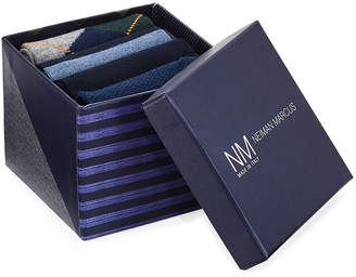 Neiman Marcus Argyle 4-Pack Printed Socks Gift Box