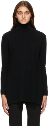 Max Mara Black Wool and Cashmere Meteora Turtleneck