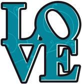 Freestyle 19 in. x 27 in. Love Wall Decal