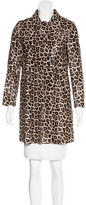 Theory Leopard Calf Hair Coat