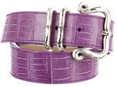 Bottega Veneta Embossed Leather Belt