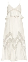 Self-Portrait Amelia lace-panelled pleated dress