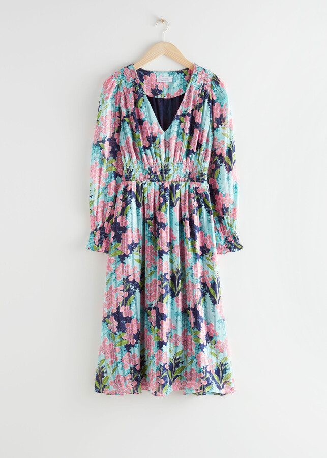 Thumbnail for your product : And other stories Pleated Smock Midi Dress