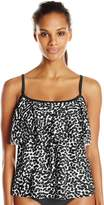 Maxine Of Hollywood Women's Spot Off Tierred Tankini