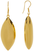 Argentovivo 18K Gold Plated Marquise Drop Earrings