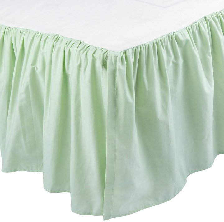 American Baby Company ABC 100% Cotton Percale Dust Ruffle - Celery