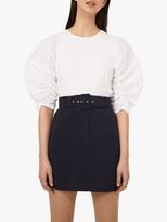 Warehouse Belted Mini Skirt, Navy