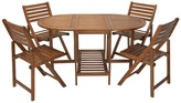 Cosco Outdoor Living 5-Piece Dining Set with Chair Storage