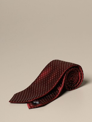 Emporio Armani Tie In Polka Dot Silk