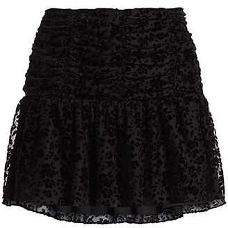 Parker Nova Floral Burnout Mini Skirt