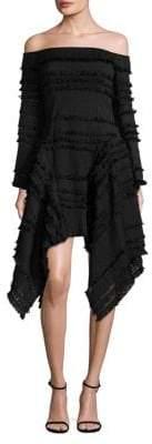 Thurley Empire Freya Off-The-Shoulder Fringe Dress
