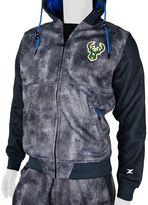 Men's Zipway Milwaukee Bucks Denim Effect Fleece Hoodie