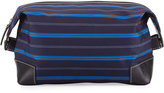 Neiman Marcus Striped Travel Shave Kit, Blue