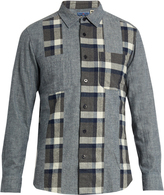 Blue Blue Japan Multi-check brushed-cotton shirt
