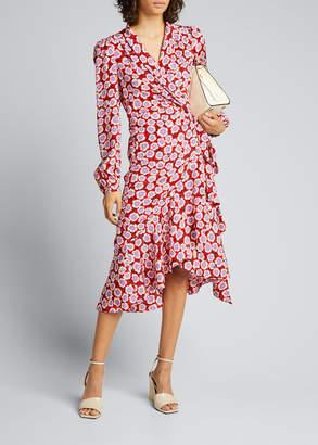 Diane von Furstenberg Carla Two Printed Long-Sleeve Wrap Dress