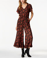 BB Dakota Gigli Cropped Floral-Print Jumpsuit