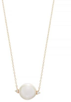 Mizuki Diamond, Pearl & Gold Necklace - Womens - Pearl