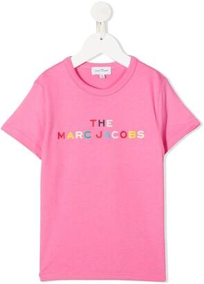 Little Marc Jacobs logo print T-shirt