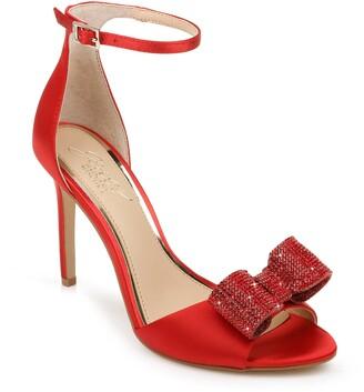 Badgley Mischka Urania Crystal Bow Ankle Strap Sandal