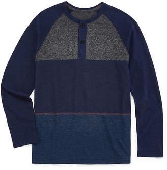 Arizona Boys Henley Neck Long Sleeve T-Shirt Preschool / Big Kid