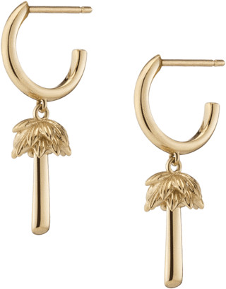 AUrate New York Gold Palm Huggie Earrings