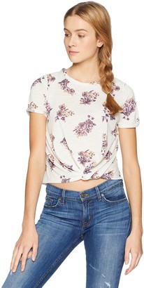 Jolt Women's Printed Twist Front Tee with Lace Back