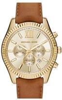 MICHAEL Michael Kors Men's 'Lexington' Chronograph Leather Strap Watch, 44Mm