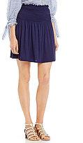 M.S.S.P. Smocked Waist Knit Jersey Skirt