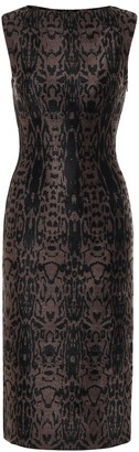 Alaia Animal-print midi dress