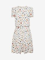 Alexander McQueen Obsession Print Cap Sleeve Trompe L'oiel Mini Dress