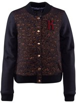 Ikks Navy Jersey Varsity Jacket