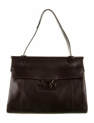 Salvatore Ferragamo Leather Top Handle Bag Brown