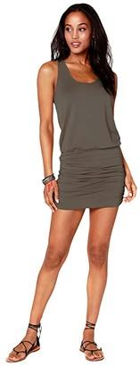 bobi Los Angeles Blouson Tank Dress in Draped Modal Jersey (Brigade) Women's Dress