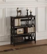 4-tier Espresso Wood X-Design Bookshelf Bookcase Display Cabinet