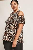 Forever 21 FOREVER 21+ Plus Size Leopard Print Top