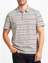 John Lewis Double Stripe Polo Shirt, Grey