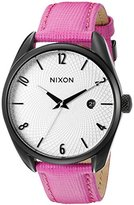 Nixon Women's A4732049 Bullet Leather Analog Display Japanese Quartz Pink Watch