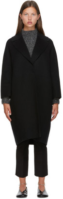 S Max Mara Black Wool Julia Coat
